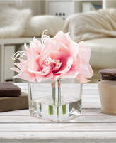 Trademark Global Pure Garden Pink Lily Floral Arrangement with Vase