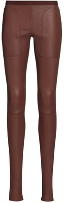 Rick Owens Leather Leggings