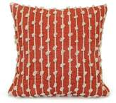 Bauble Stripe Square Throw Pillow in Terracotta