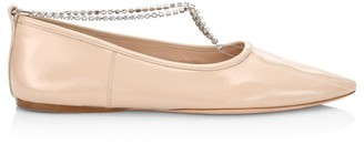 Miu Miu Crystal-Embellished Ballet Flats
