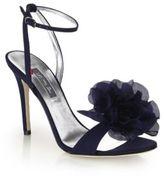 Sarah Jessica Parker Frolic Flower Grosgrain Ankle-Strap Sandals