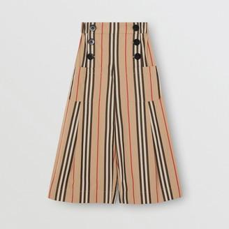 Burberry Icon Stripe Cotton Sailor Trousers