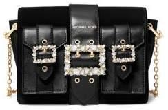 MICHAEL Michael Kors Hayden Embellished Buckle Crossbody Bag