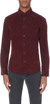 HUGO BOSS Slim-fit cotton corduroy shirt