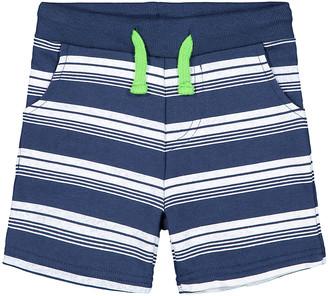 Andy & Evan Boys' Casual Shorts NAVY - Navy & White Stripe French Terry Shorts - Toddler & Boys