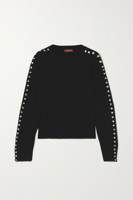 Altuzarra Thallo Button-embellished Knitted Sweater - Black