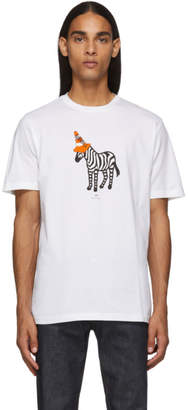 Paul Smith White Zebra Cone T-Shirt