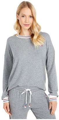 PJ Salvage American Revival Sweatshirt (Heather Grey) Women's Clothing