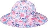 Jo-Jo JoJo Maman Bebe Floppy Sun Hat (Baby) - Pink Retro Floral-0-6 Months