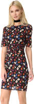 Whistles Pansy Print Silk Dress