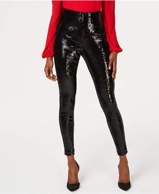 INC International Concepts I.n.c. Petite Sequined Skinny Pants