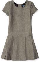 Ralph Lauren Pleated Herringbone Dress