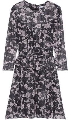 Rebecca Minkoff Jojo Floral-print Mesh Peplum Mini Dress