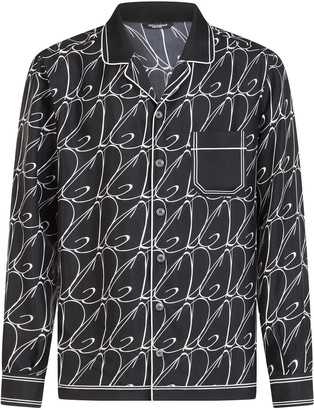 Dolce & Gabbana logo print pyjama shirt