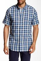 Nautica Classic Fit Short Sleeve Plaid Shirt