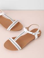 Shein T-Strap Flat Sandals