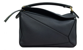 Loewe Puzzle Navy Leather Handbags