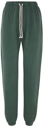 American Vintage Hapylife green stretch-cotton sweatpants