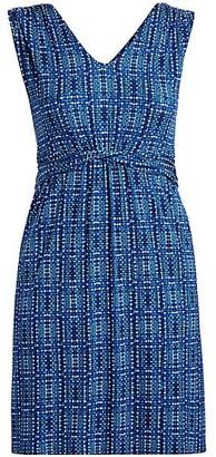 NIC+ZOE, Plus Size Check It Out Geometric-Print Dress