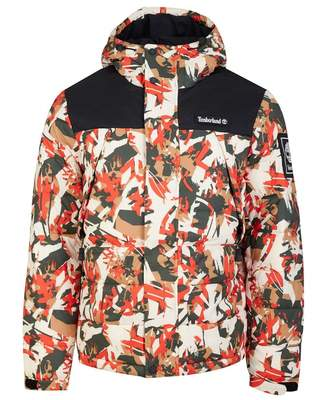 Timberland Hooded Camo Puffa Jacket Colour: Camo, Size: LARGE