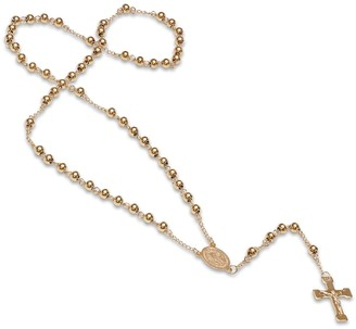 Steel by Design 18K Plated Rosary Necklace