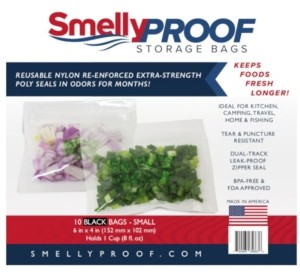 """Smelly Proof Bags Hang Tag, 6"""" H x 0.3"""" L"""