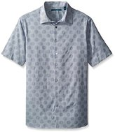 Perry Ellis Men's Big and Tall Dot Pattern Shirt