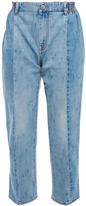 Stella McCartney Paneled Mid-rise Slim-leg Jeans