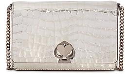 Kate Spade Romy Metallic Croc-Embossed Chain Wallet