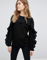 Warehouse Frill Detail Sweater