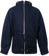 Kolor zipped hooded jacket