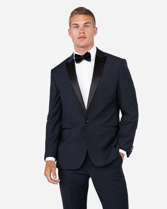 Express Classic Navy Wool-Blend Performance Tuxedo Jacket