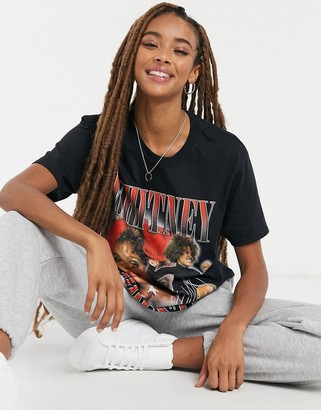 Daisy Street relaxed t-shirt with Whitney Houston print