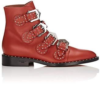 Givenchy Women's Elegant Studded Leather Ankle Boots - Red