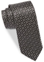 Black Brown 1826 Narrow Medallion Tie