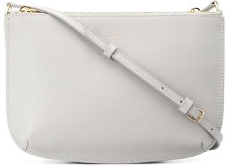 A.P.C. zipped logo crossbody bag
