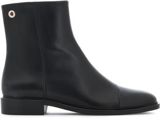 Proenza Schouler Patent And Smooth-leather Ankle Boots