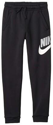 Nike Sportswear Club + HBR Pants (Big Kids) (Black/Black) Boy's Casual Pants
