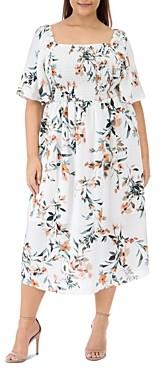 Baobab Collection Mathilde Floral Print Smocked Dress