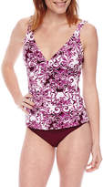 Liz Claiborne Pattern Tankini Swimsuit Top