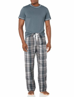 Majestic International Men's Check Mates 2pc S/S Top and Pant Set
