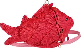 Sensi Red Straw Bag
