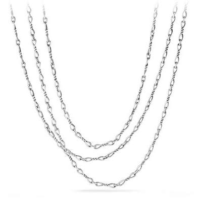 David Yurman Continuance Small Sterling Silver Chain Necklace, 72""