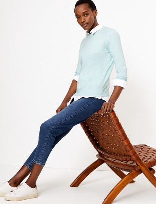 Marks and Spencer Cotton Long Sleeve Jumper