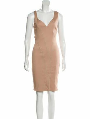 Givenchy Sleeveless Knee-Length Dress Khaki