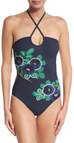 Tory Burch Avalon Bandeau One-Piece Swimsuit