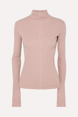 Helmut Lang Ribbed Cotton Turtleneck Sweater - Pink