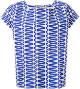 Issey Miyake printed top - women - Cotton/Polyester/Lyocell - 2
