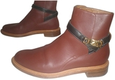 Chloé Burgundy Leather Ankle boots