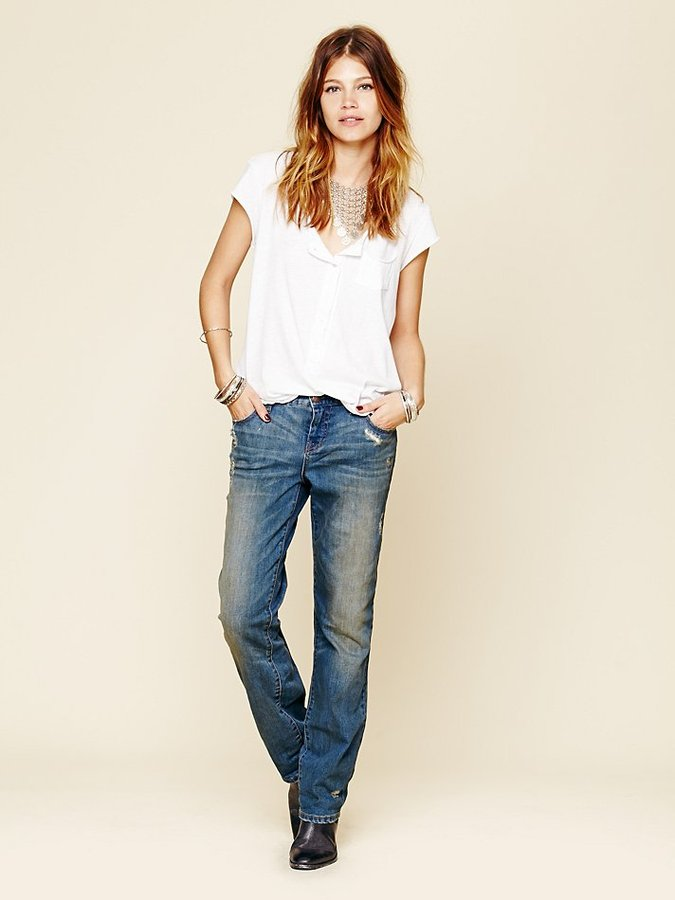 Free People Low Rise Relaxed Skinny